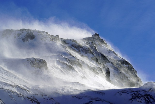 What is Orographic lift? Windy Mountain peak.