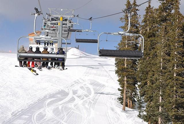 Early season skiing Keystone, CO