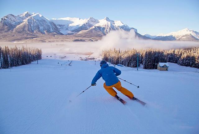 Opening day Lake Louise, Alberta, Canada, Early Season Skiing