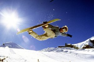 Half-pipe in Saas-Fee's snowpark, Switzerland
