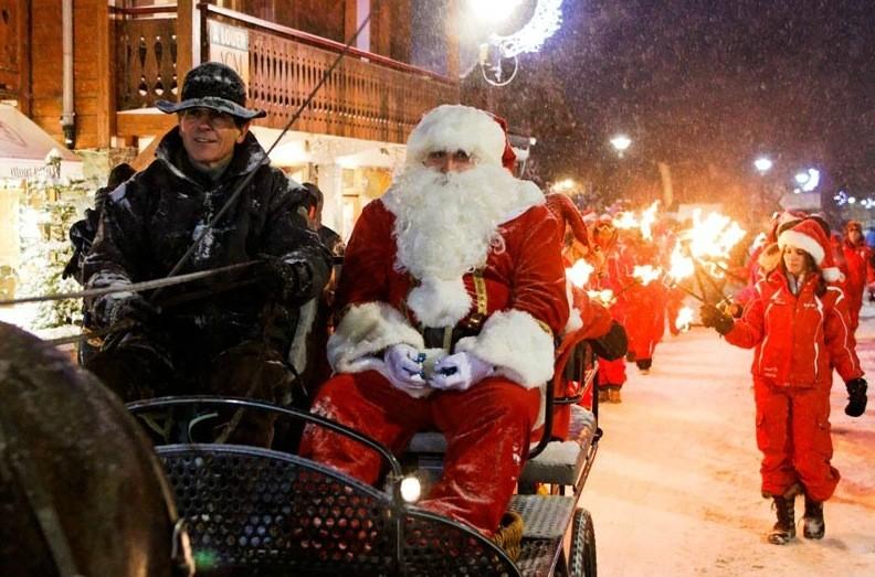 Santa at Les Gets