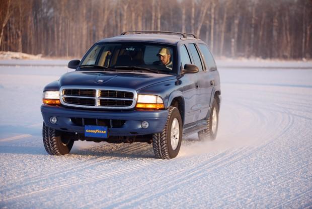 Rental car on snow