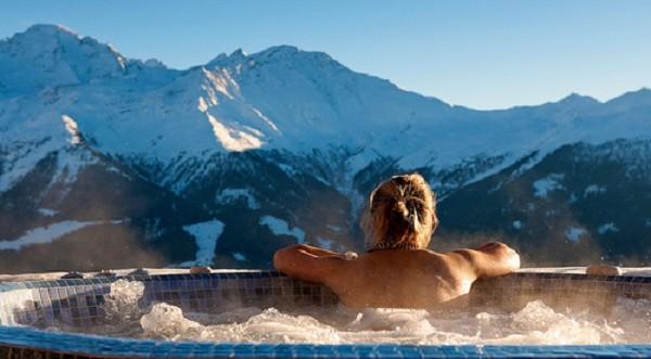 Hot tub in Verbier