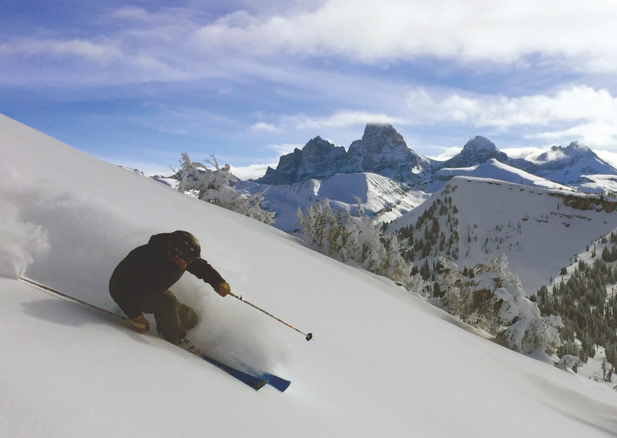 Powder in the Tetons