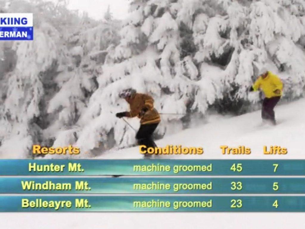 Skiing weatherman