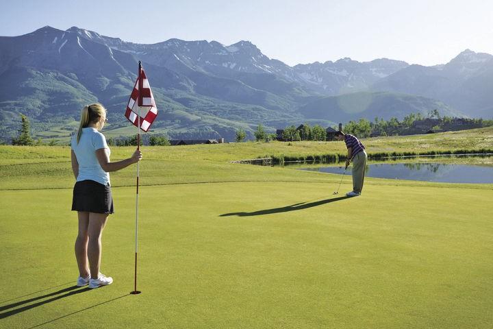 Golf club at Telluride