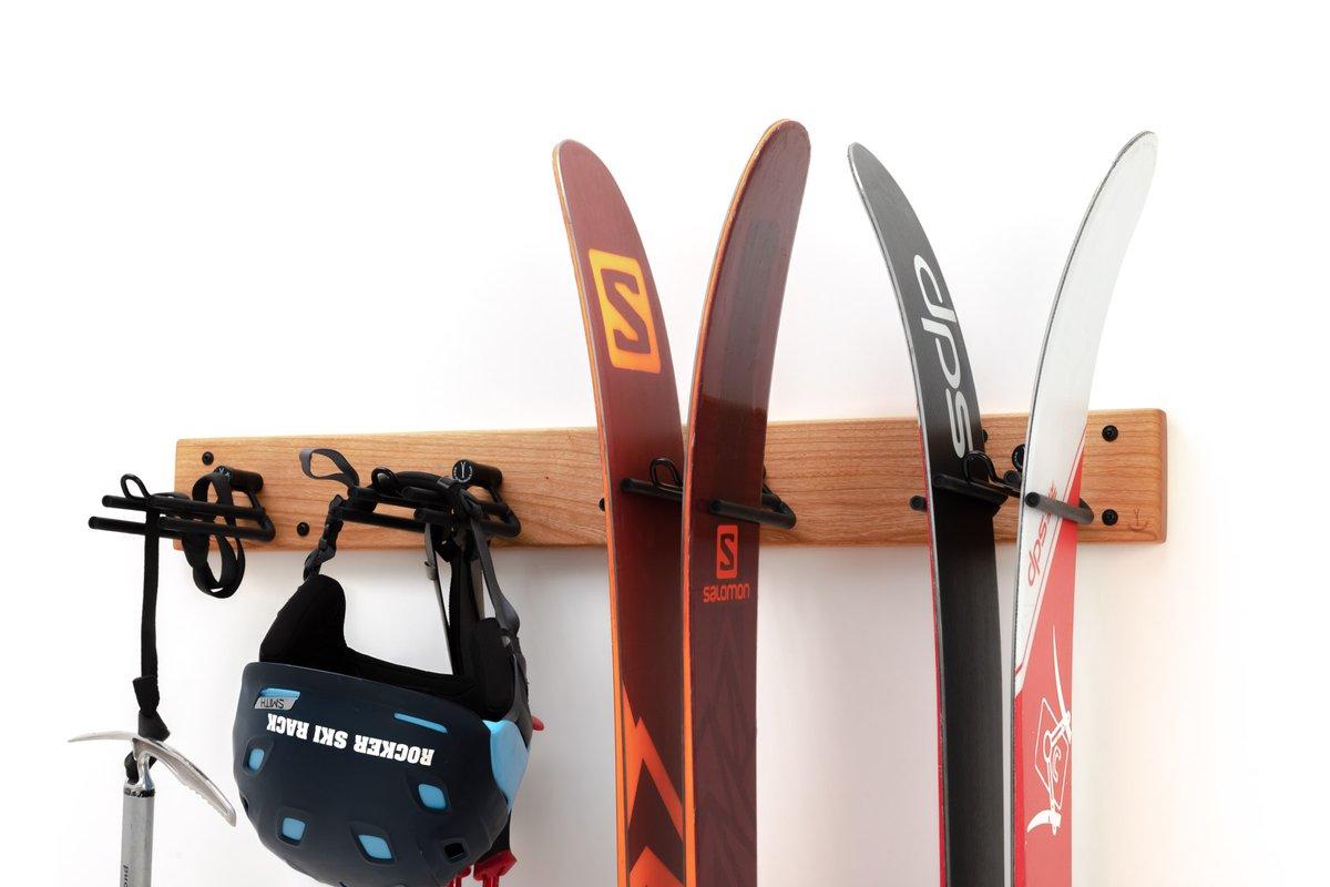 Rocker ski rack