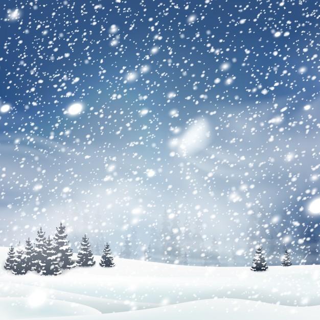 Natural snowfall