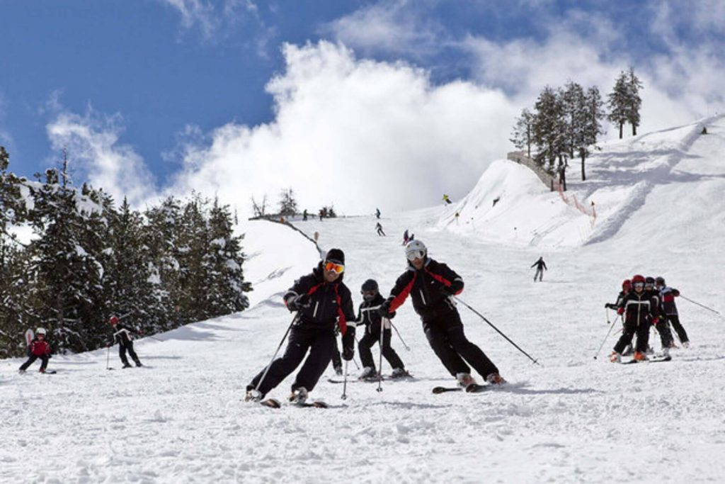 On the slopes of Arinsal, Vallnord