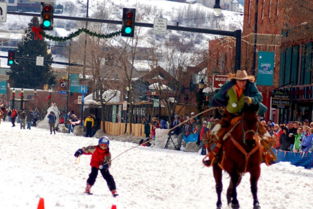 Winter Carnival in downtown Steamboat Springs has street events down Lincoln Avenue