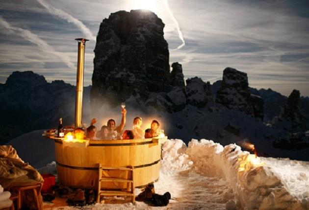 After dinner hot tub