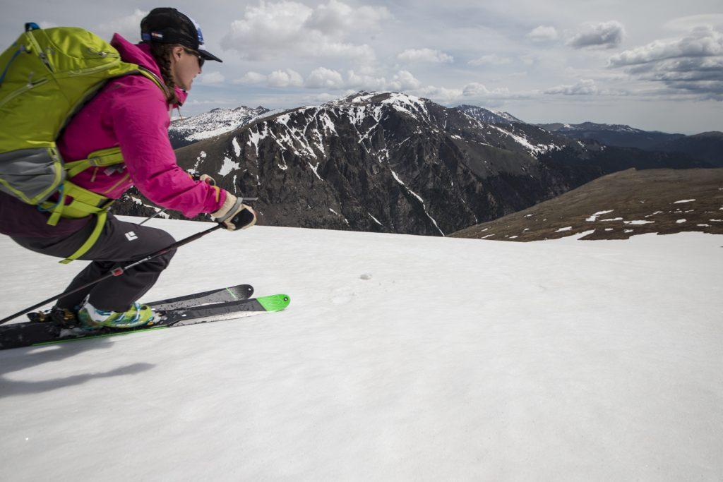 Summer skiing Rocky Mt. National Park