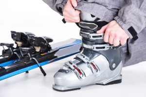 Breaking in new boots ski