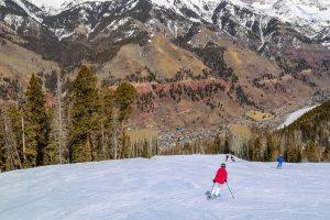 After the season skiing Spring Rockies