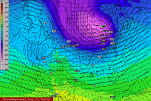 The American GFS model is widely used by meteorologists and snow fanciers.
