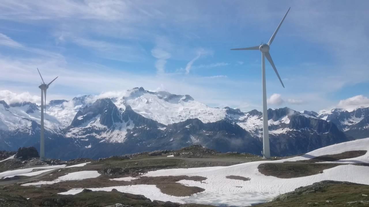 wind turbine above Andermatt, Switzerland
