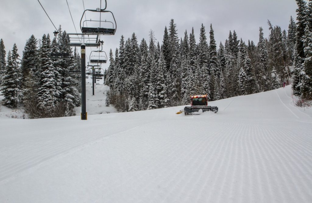 First tracks at Winter Park