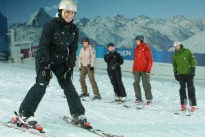 Pete Silver Gillespie at Snow Center near London