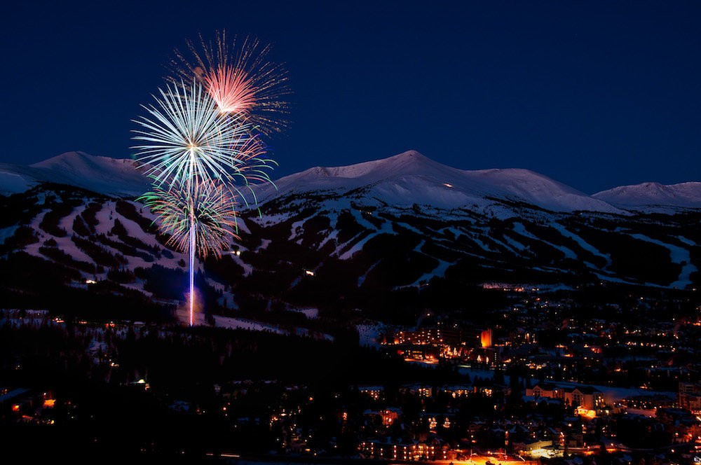 Fireworks over Breckenridge ring in the New Year. Credit: Breckenridge